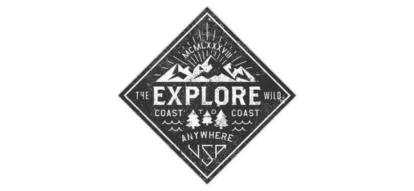 explore the wild patch vector